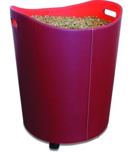 Réservoir à granulés simili cuir