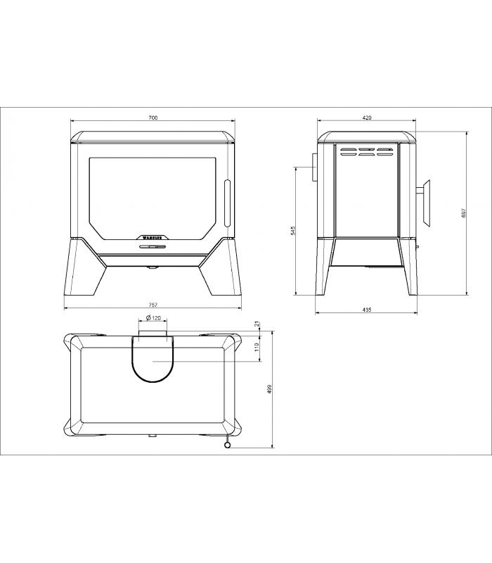 po le bois wamsler f box. Black Bedroom Furniture Sets. Home Design Ideas